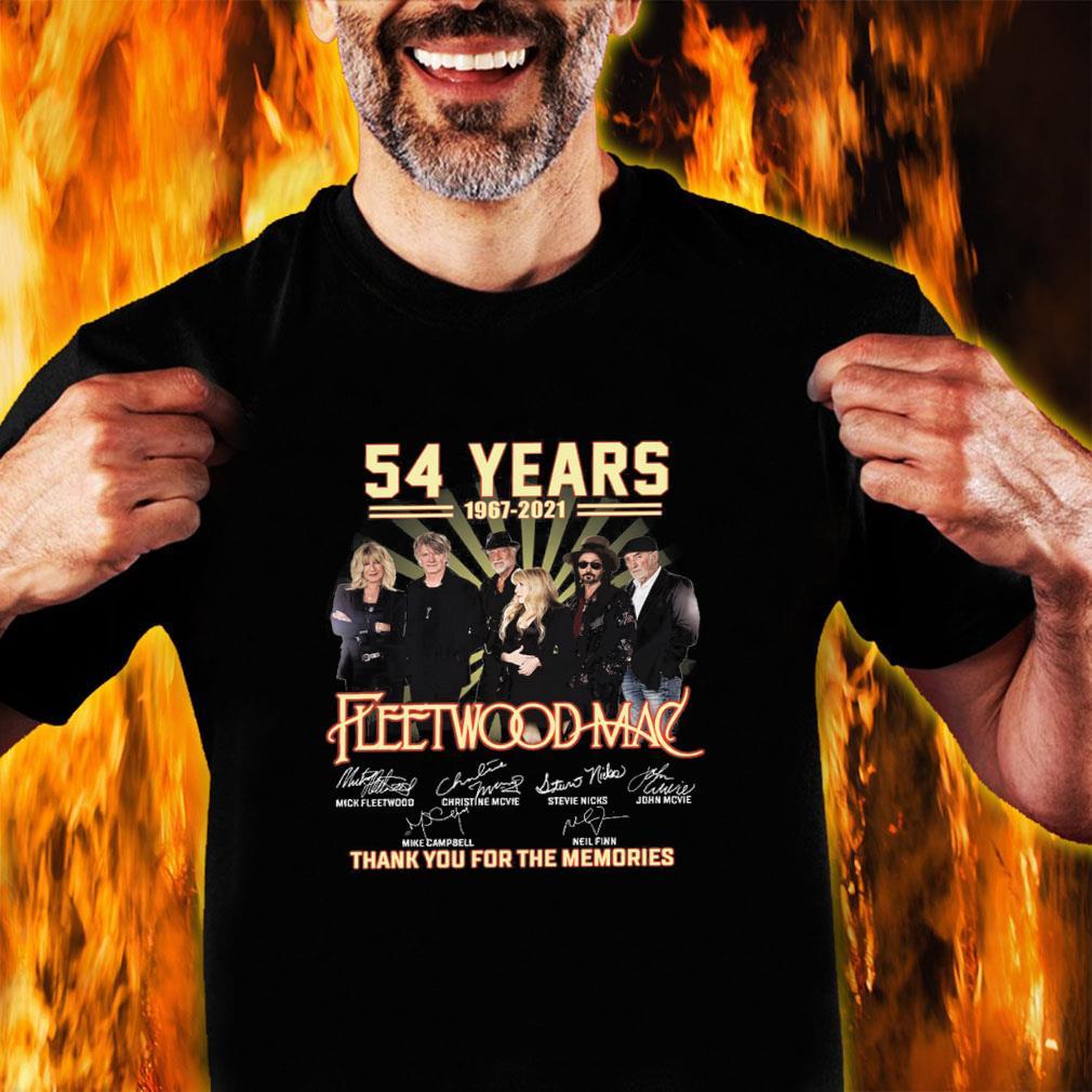 54 years 1967 2021 fleewoodmac thank you for the memories shirt