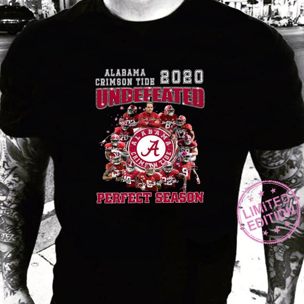 Alabama crimson tide 2020 undefeated perfect season shirt sweater
