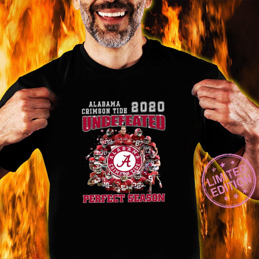 Alabama crimson tide 2020 undefeated perfect season shirt