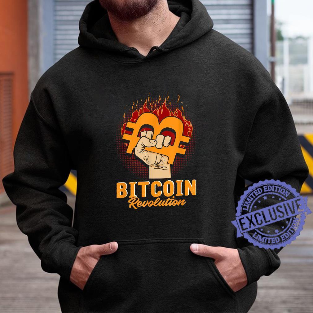 Bitcoin Revolution In code we trust BTC Crypto und Bitcoin Shirt hoodie