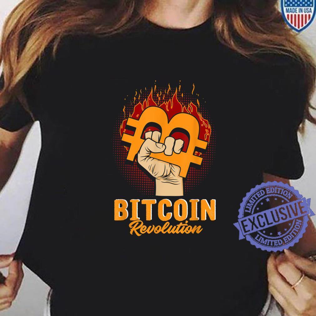 Bitcoin Revolution In code we trust BTC Crypto und Bitcoin Shirt ladies tee