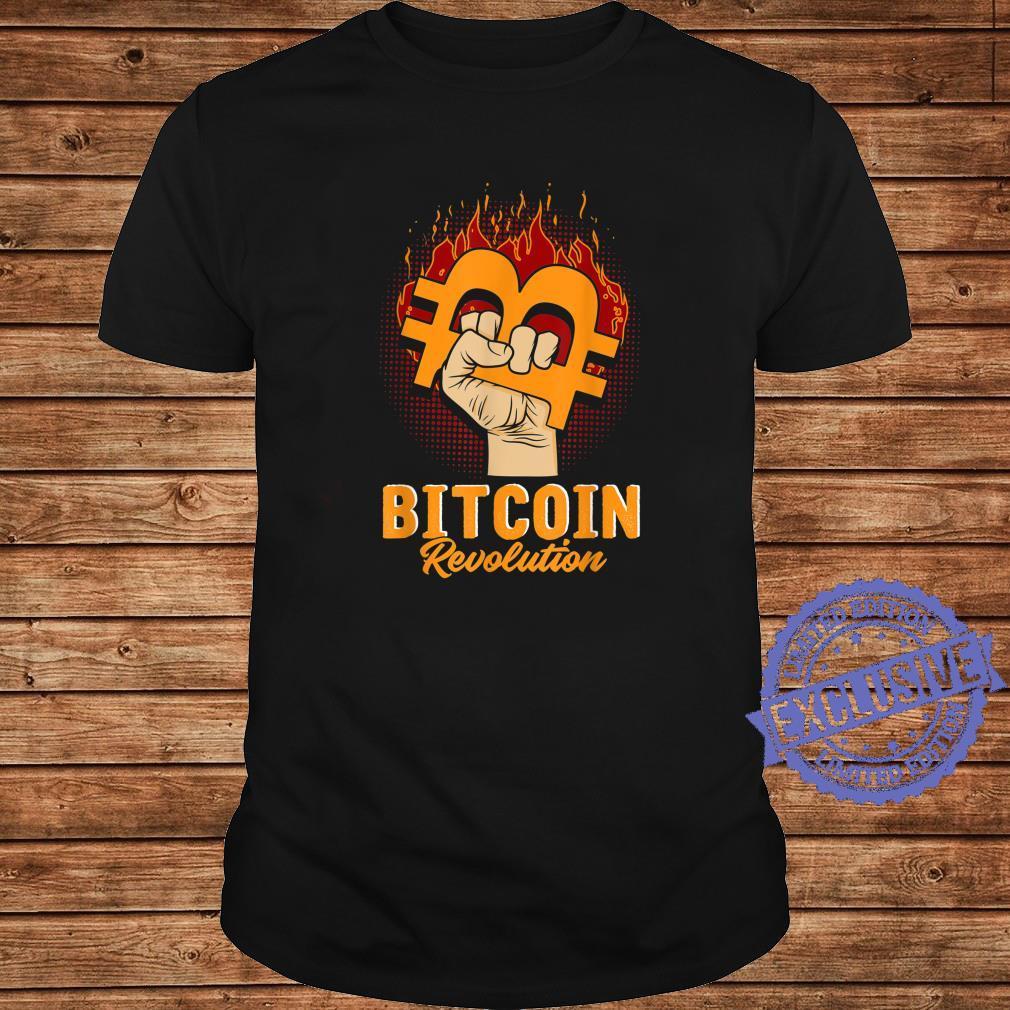 Bitcoin Revolution In code we trust BTC Crypto und Bitcoin Shirt long sleeved