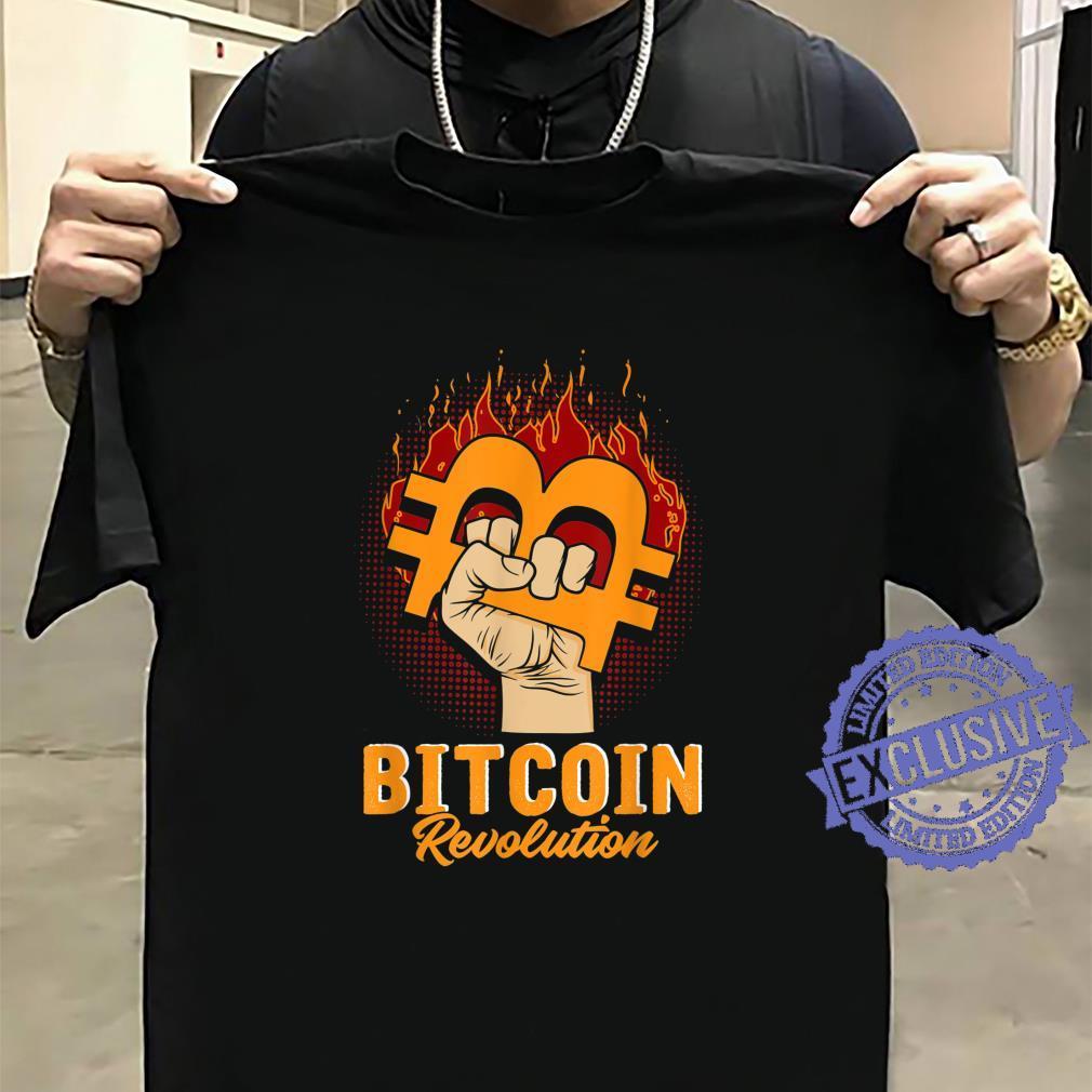 Bitcoin Revolution In code we trust BTC Crypto und Bitcoin Shirt sweater