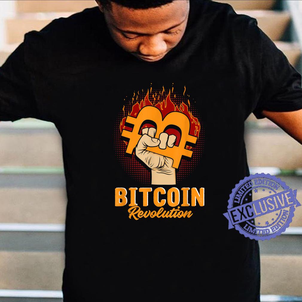 Bitcoin Revolution In code we trust BTC Crypto und Bitcoin Shirt