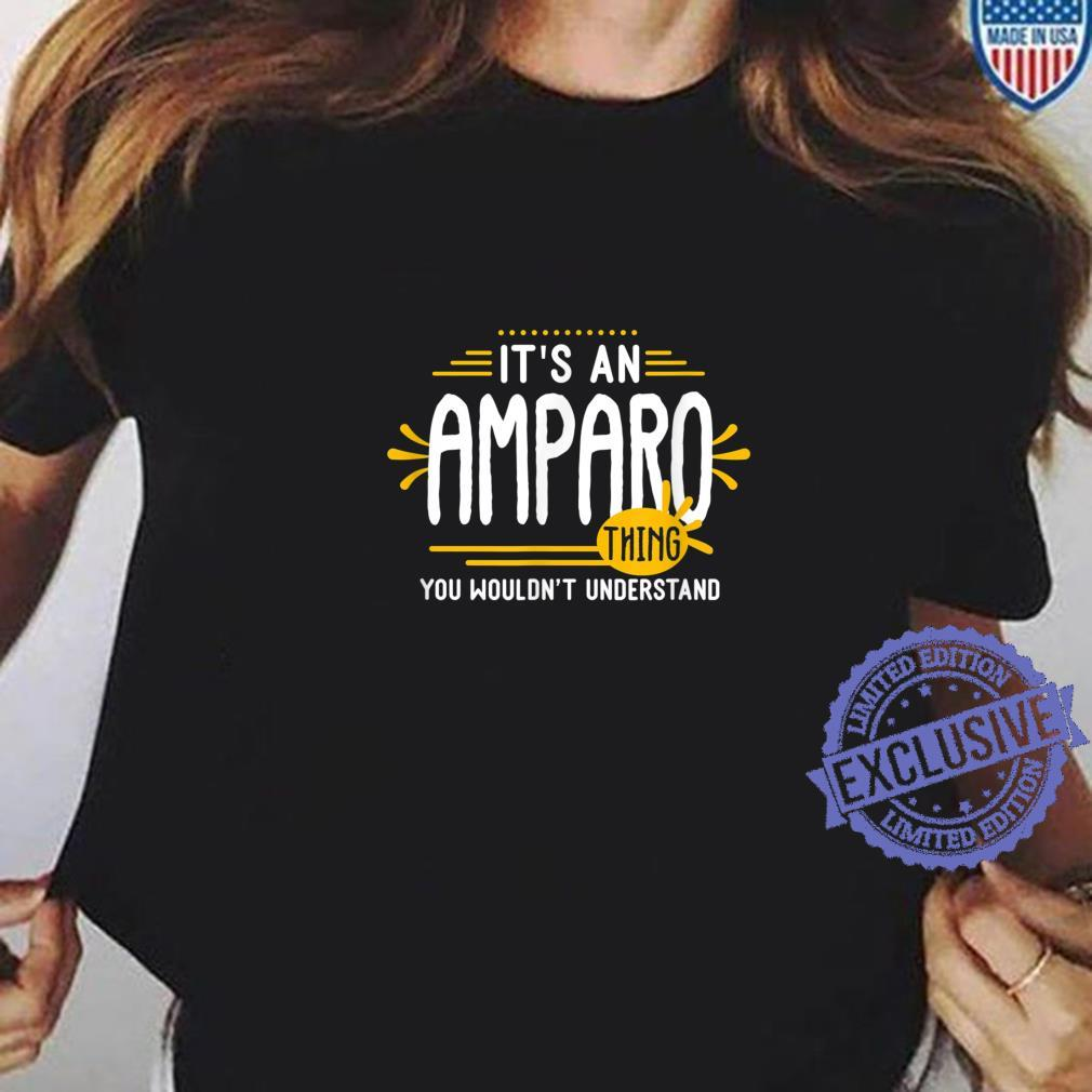 It's An Amparo Thing's Personalized Name Shirt ladies tee