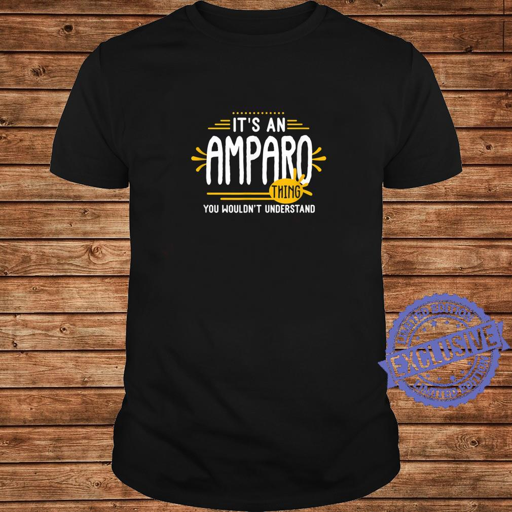 It's An Amparo Thing's Personalized Name Shirt long sleeved