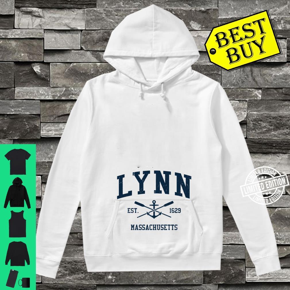 Lynn MA Vintage Navy Crossed Oars & Boat Anchor Shirt hoodie