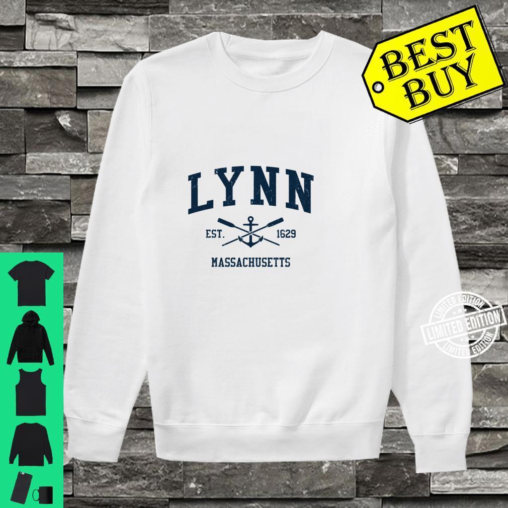 Lynn MA Vintage Navy Crossed Oars & Boat Anchor Shirt sweater
