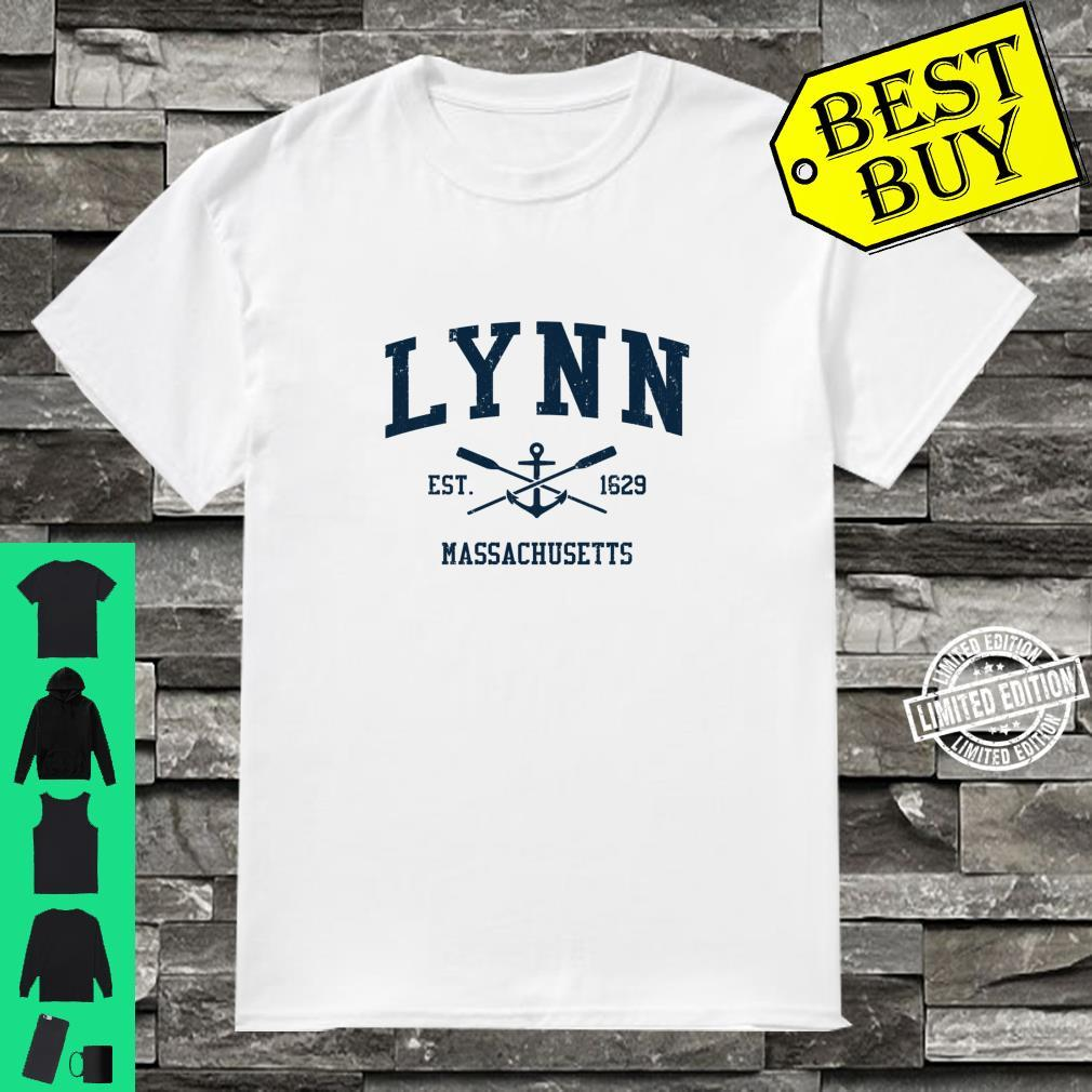 Lynn MA Vintage Navy Crossed Oars & Boat Anchor Shirt