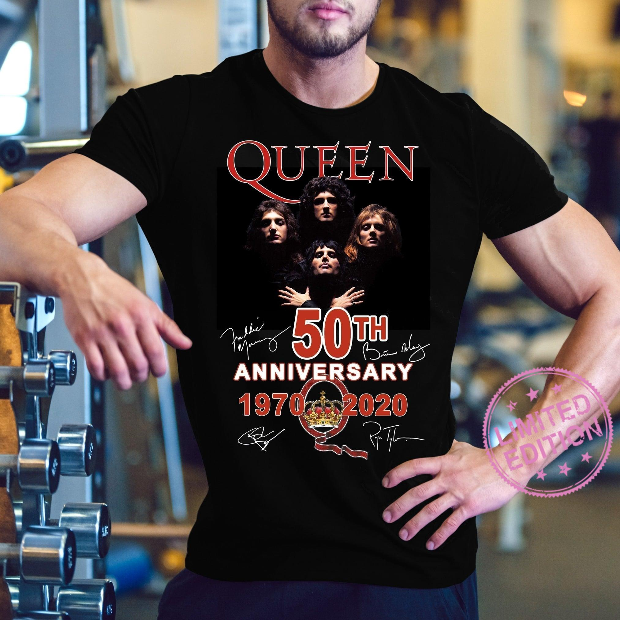 Queen 50th anniversary 1970 2020 shirt
