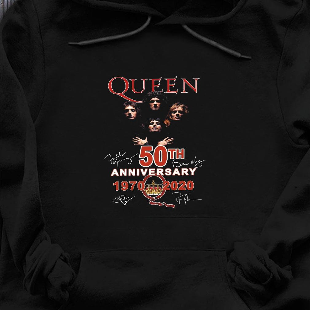 Queen 50th anniversary 1970 2020 shirt hoodie