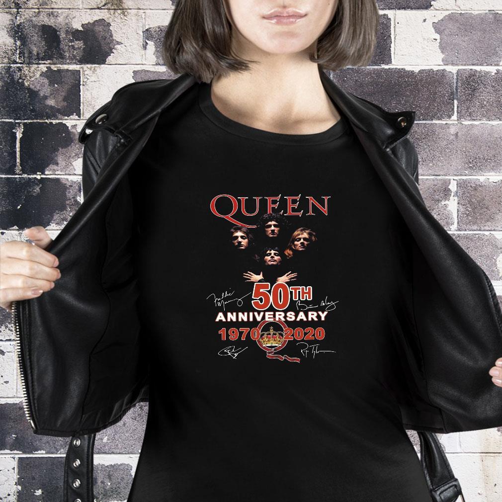 Queen 50th anniversary 1970 2020 shirt ladies tee