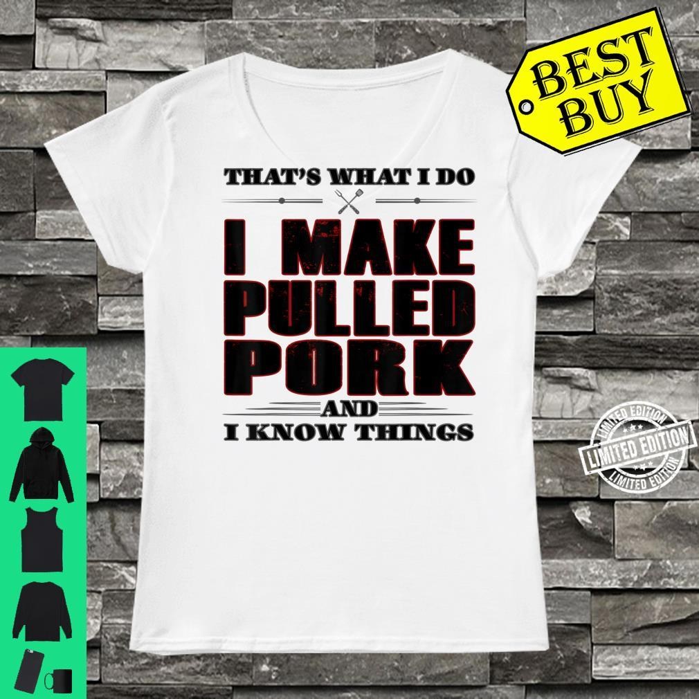 That's What I Do Pulled Pork Grill Barbecue Shirt ladies tee