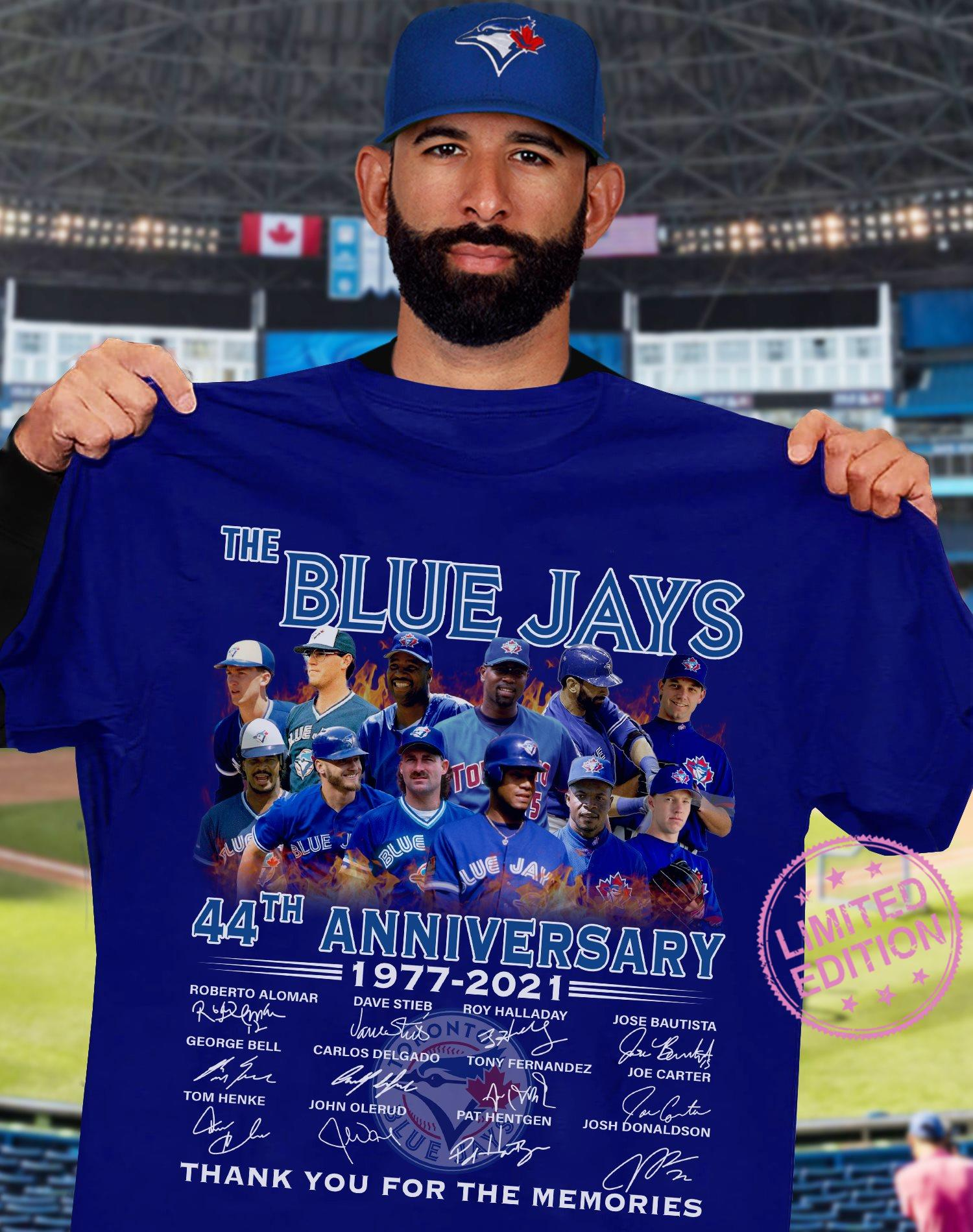 The blue jays 44th anniversary 1977 2021 thank you for the ...