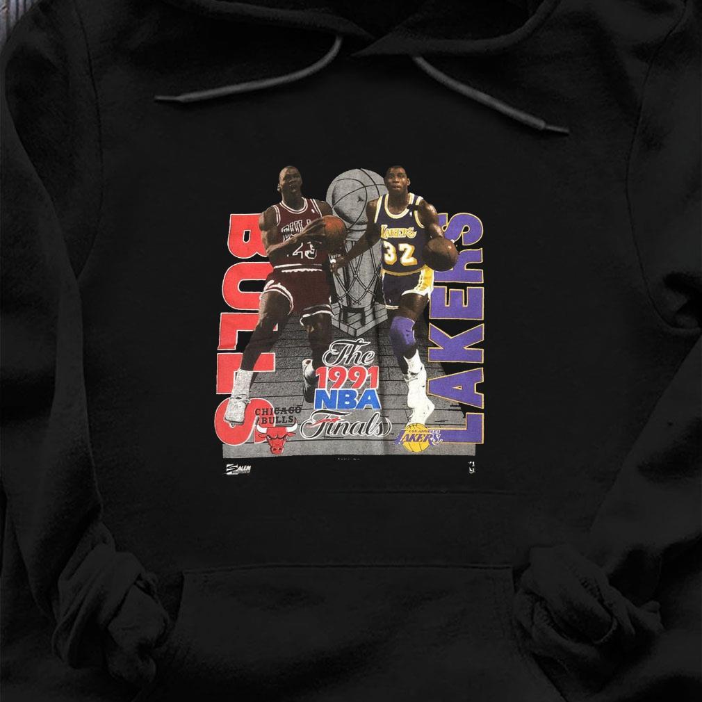 Vintage 1991 NBA Finals MICHAEL JORDAN Magic Johnson T-Shirt hoodie