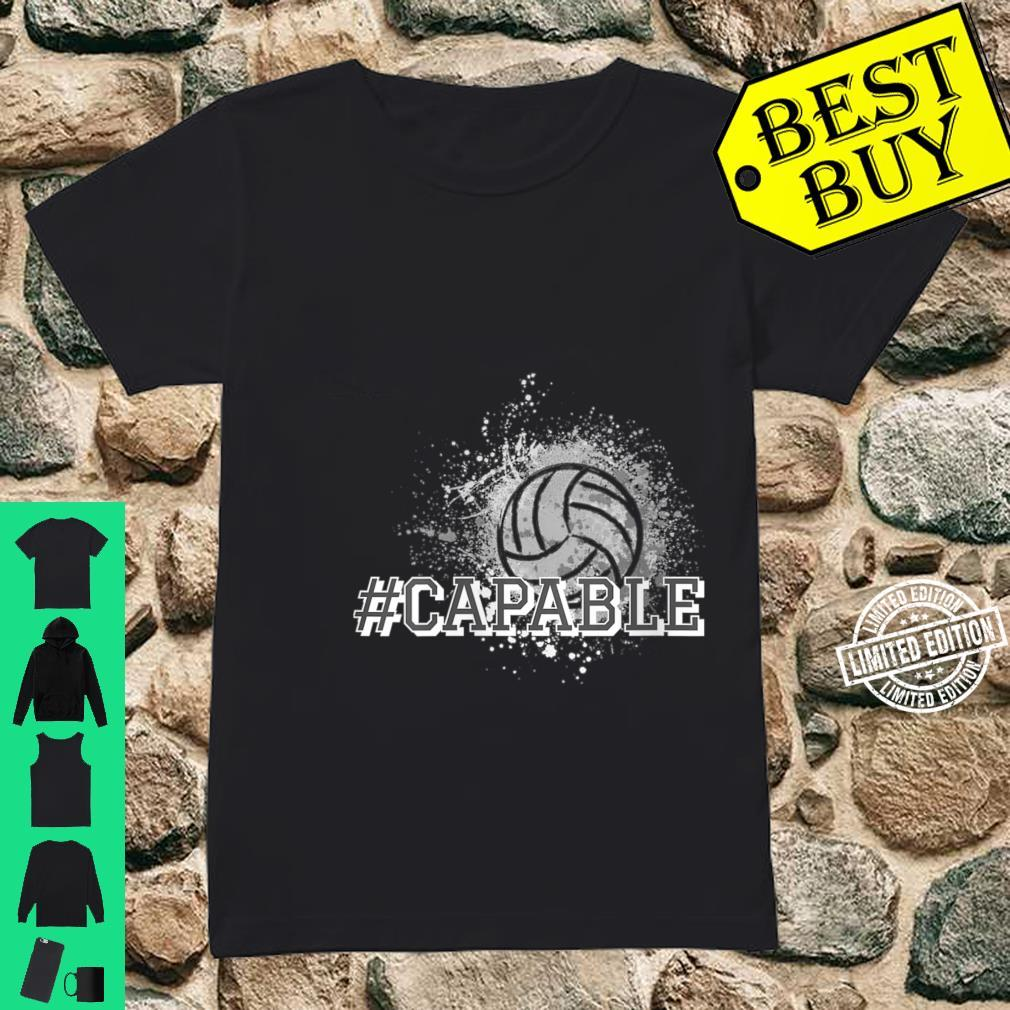 Womens Volleyball #Capable Shirt ladies tee