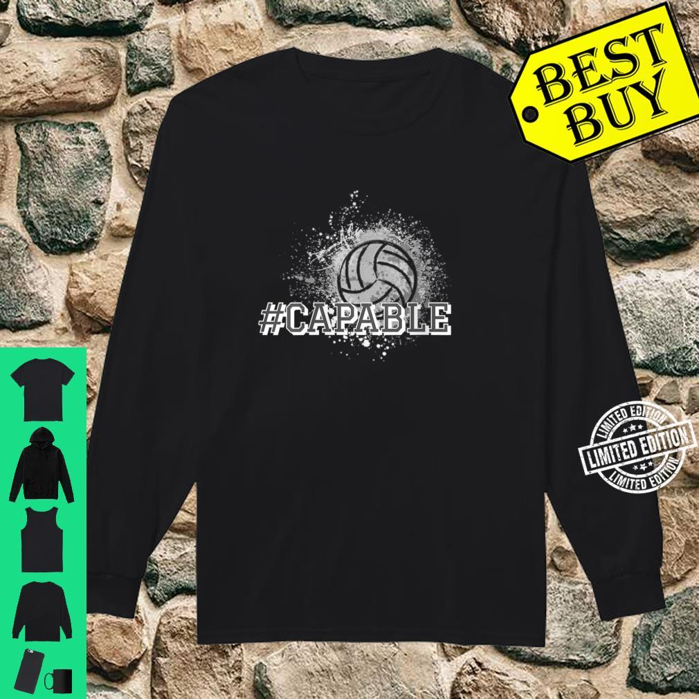 Womens Volleyball #Capable Shirt long sleeved