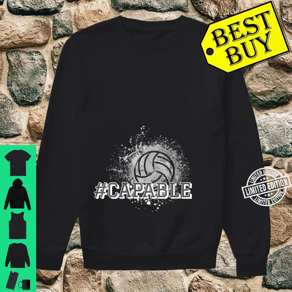 Womens Volleyball #Capable Shirt sweater