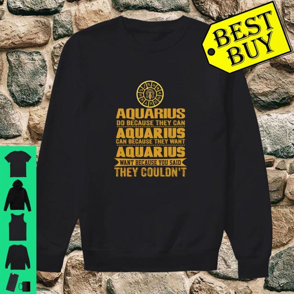 Aquarius Do Because They Can Aquarius Zodiac Birthday shirt sweater