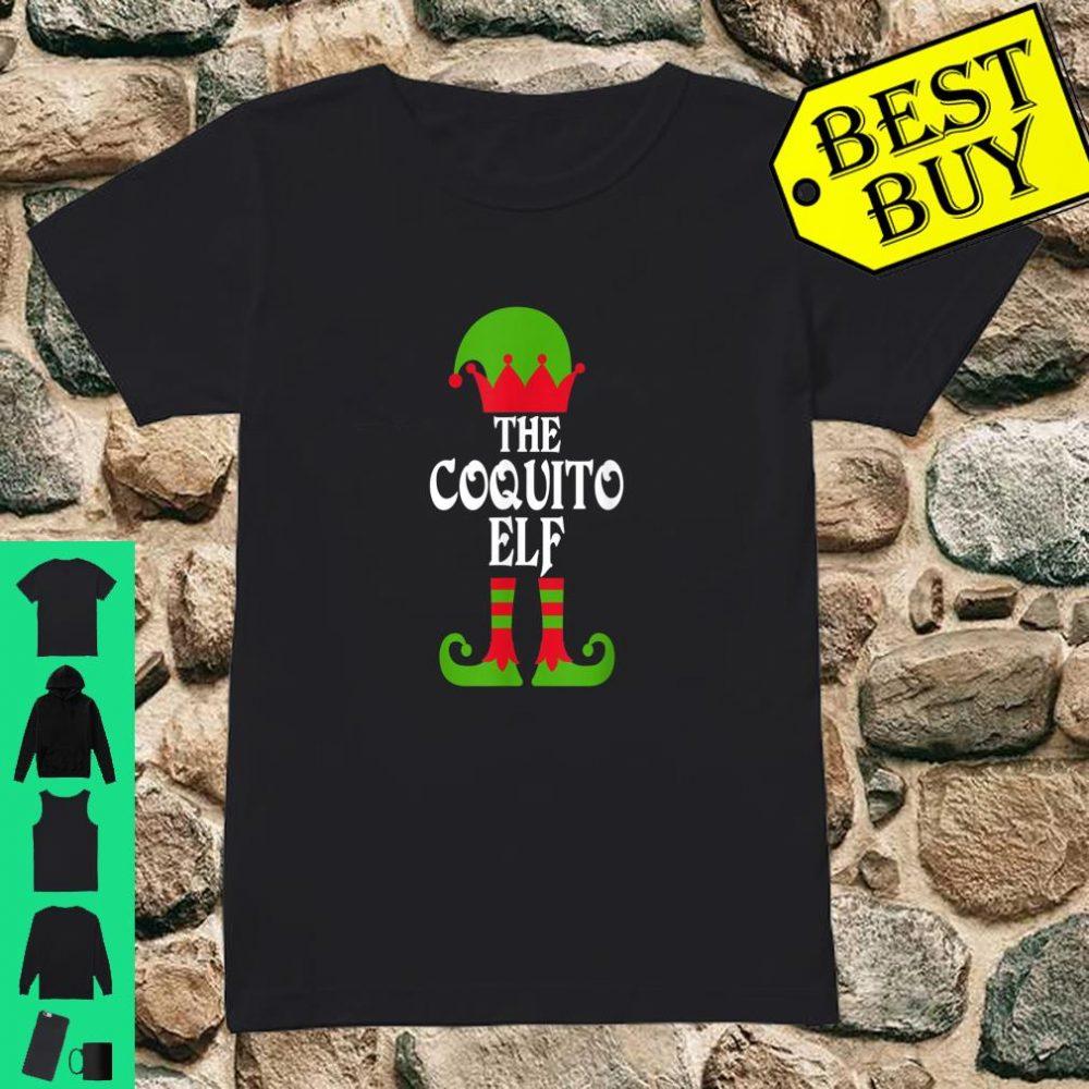 Coquito Elf Christmas Boricua Puerto Rican shirt ladies tee