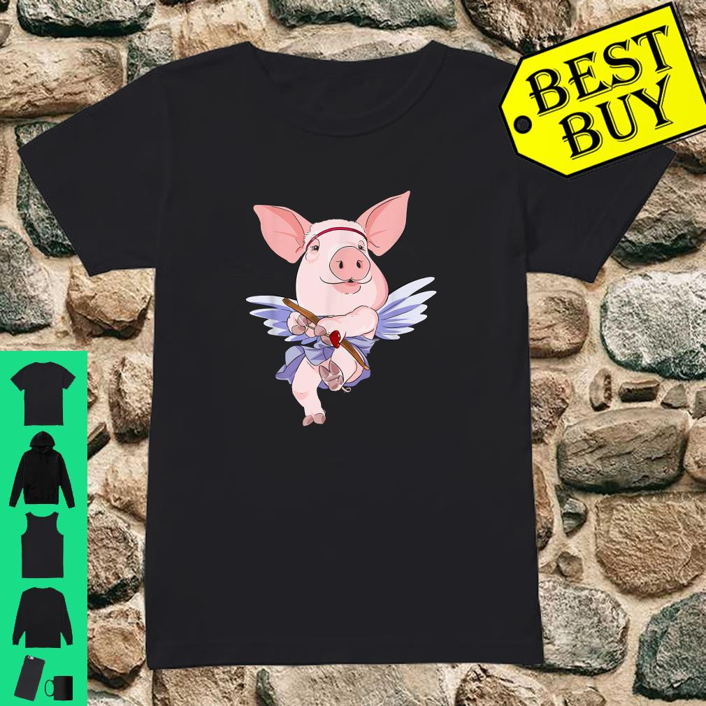 Cupid Pig Valentines Day shirt ladies tee