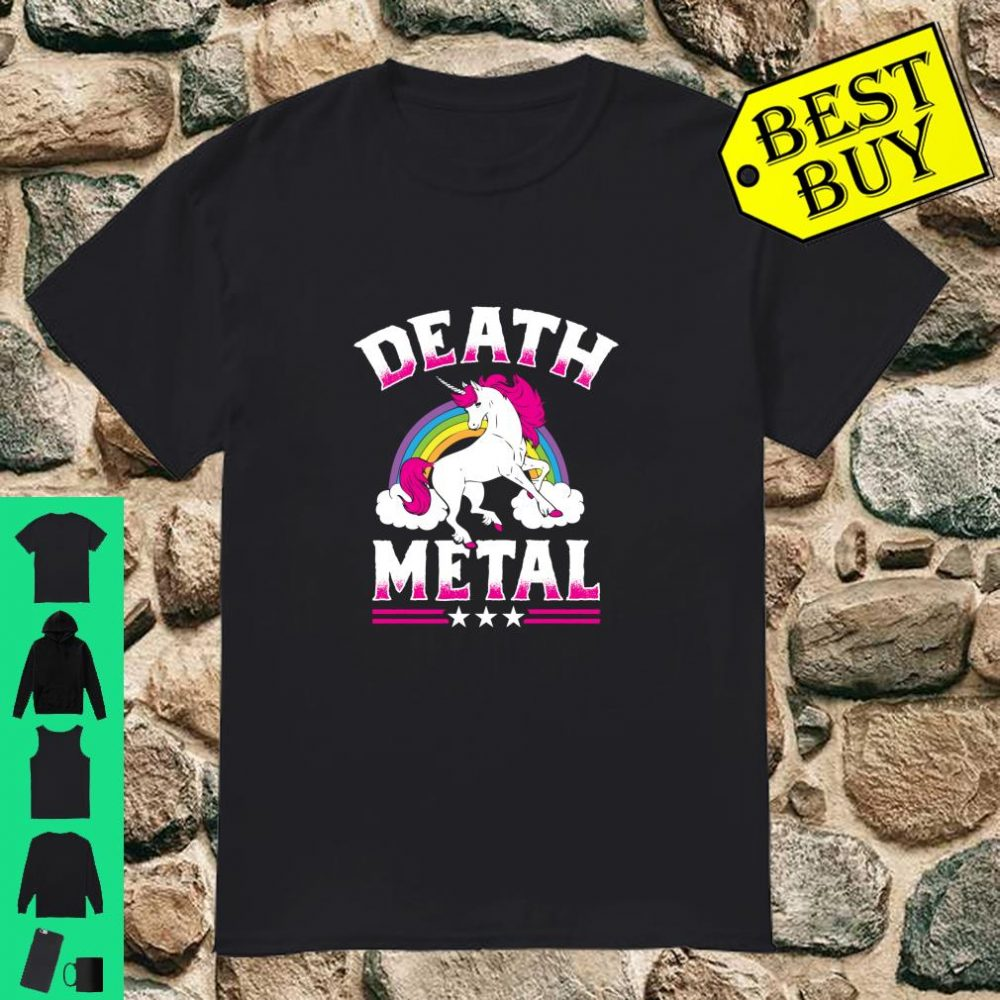 Death Metal Rainbow and Unicorn Heavy Rock Music Lover shirt