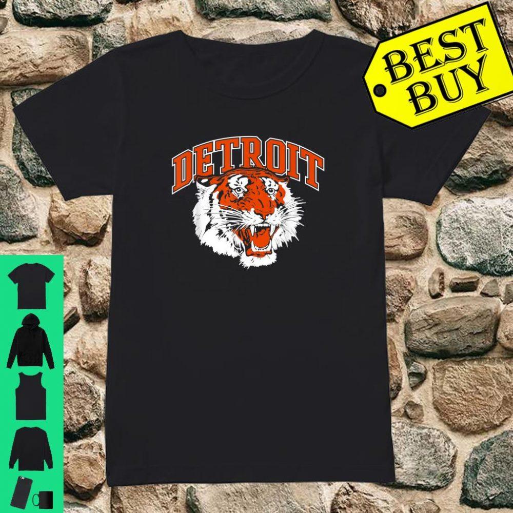 Detroit Baseball Vintage Michigan Bengal Tiger Retro shirt ladies tee