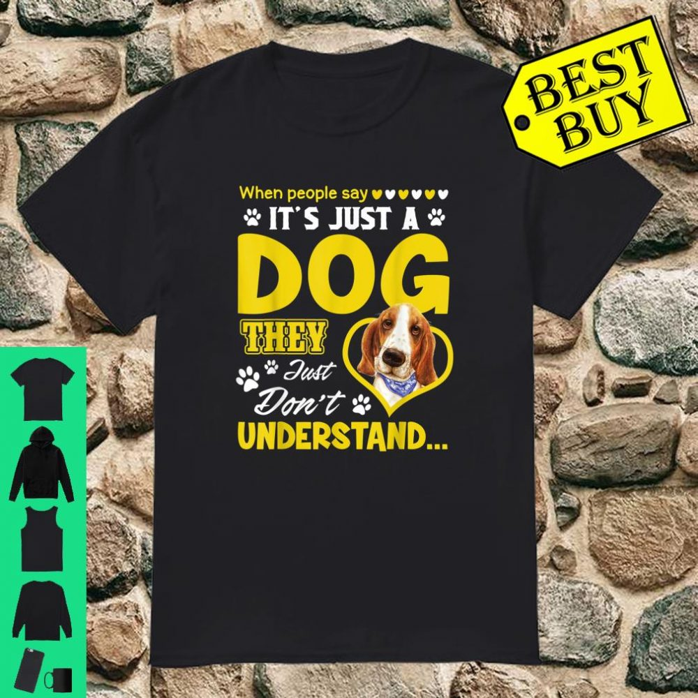Funny Dog Animal Paw Cute Basset Hounde Shirt