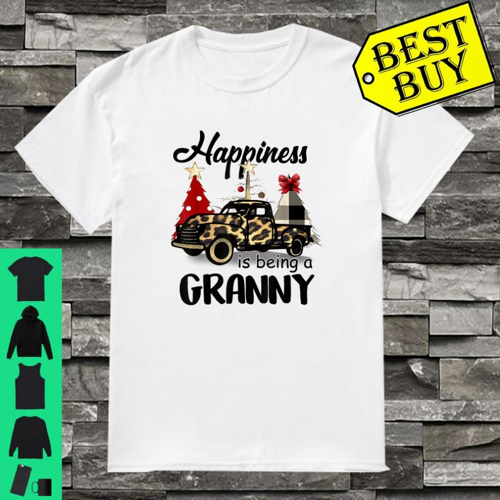 Happiness Is Being A Granny Leopard Printed Truck Christmas shirt