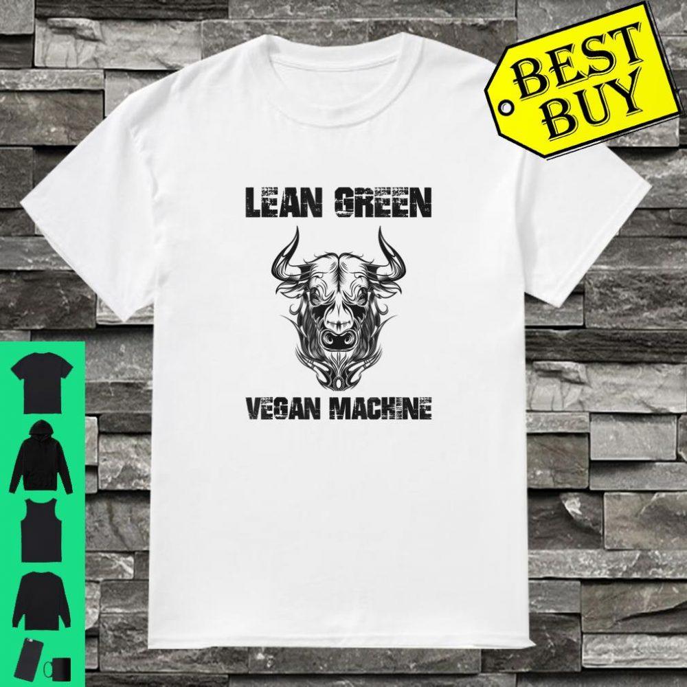 Lean Green Vegan Machine Bull Veggie shirt