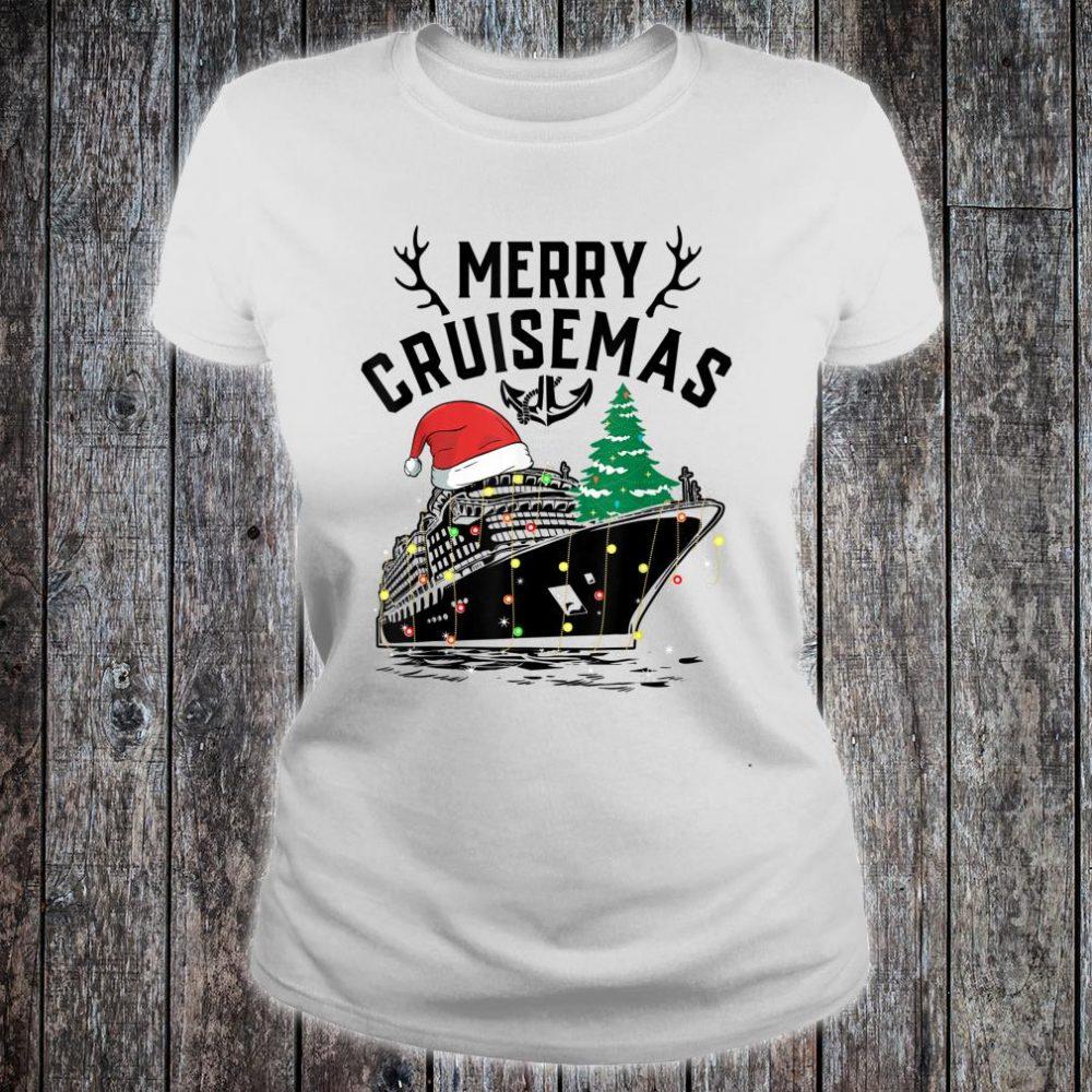 Merry Cruisemas Cruise Ship Family Christmas Gift shirt ladies tee