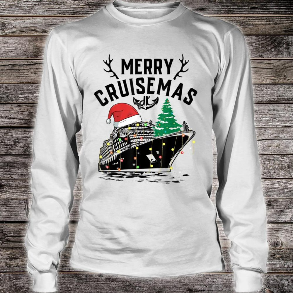 Merry Cruisemas Cruise Ship Family Christmas Gift shirt long sleeved