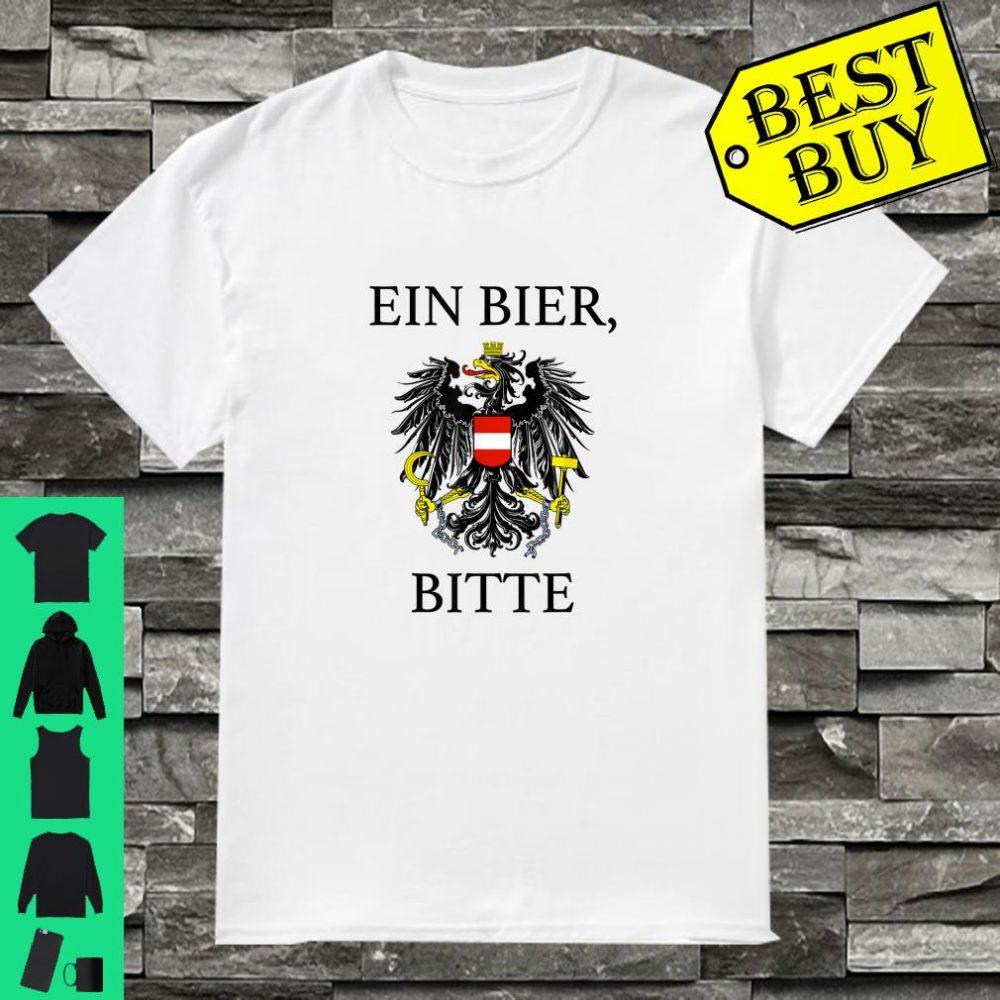 One Beer Please Austrian Souvenir Ein Bier Bitte German shirt