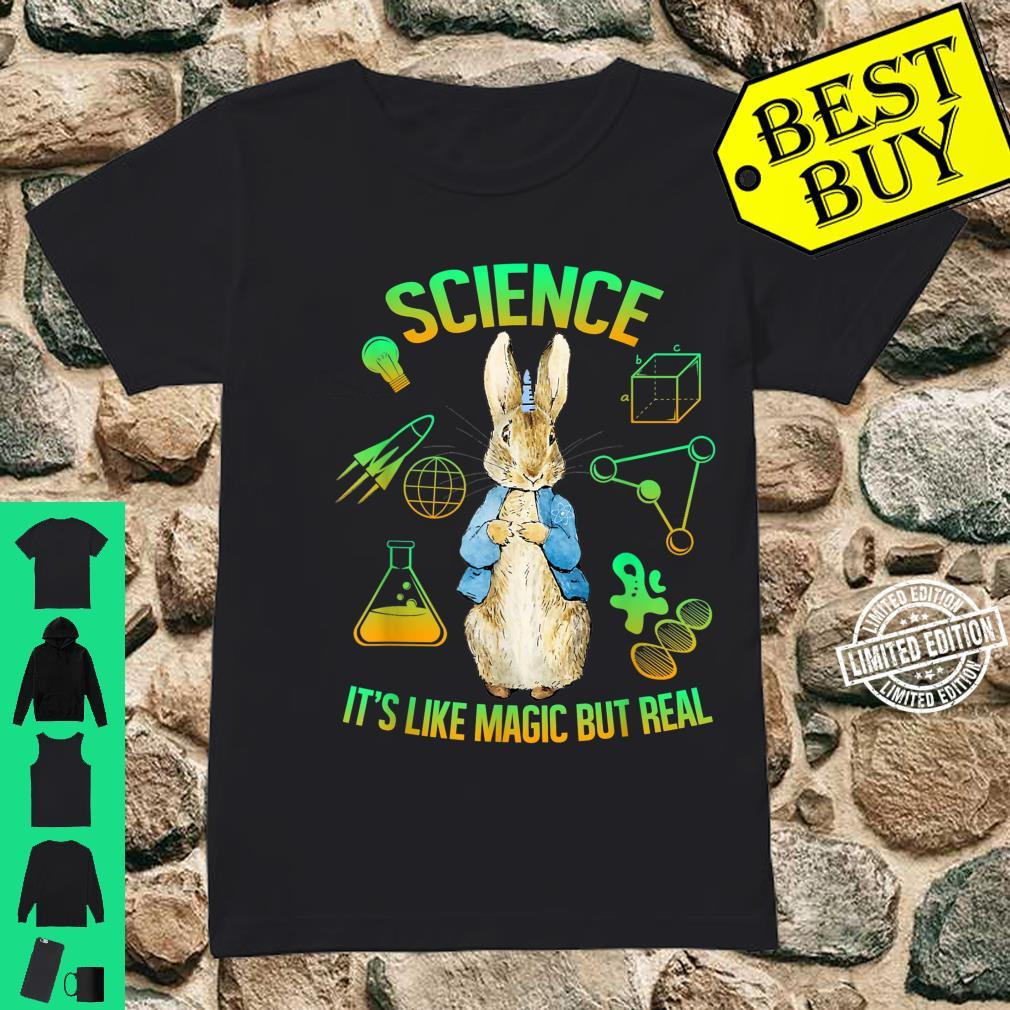 Science Is Like Magic But Real Bunny Unicorn Scientist Shirt ladies tee