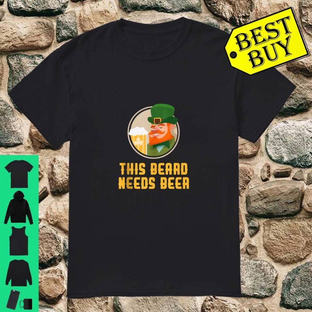 St Patrick's Day Beard Beer Shirt