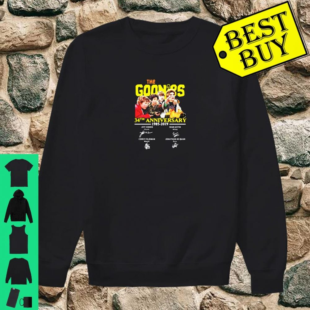 The goonies 34th anniversary 1985 2019 signature shirt sweater