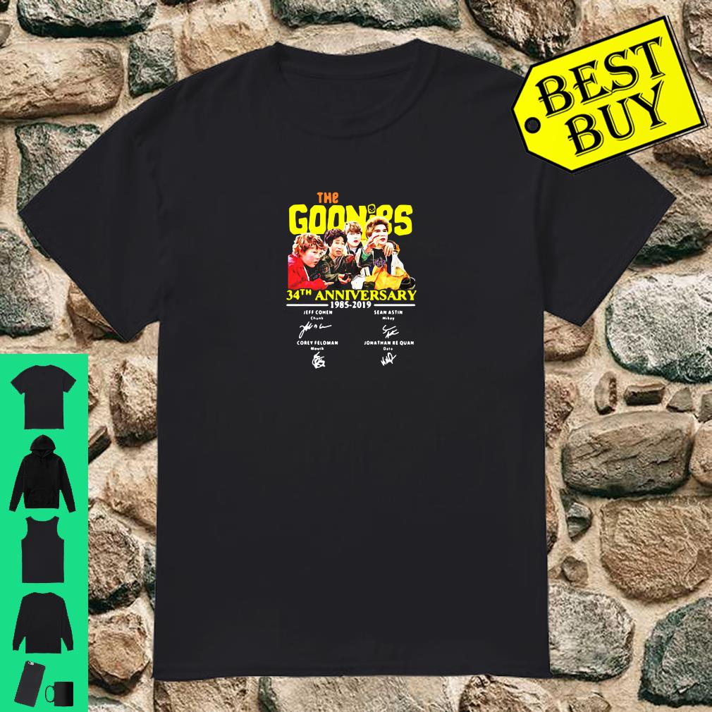 The goonies 34th anniversary 1985 2019 signature shirt